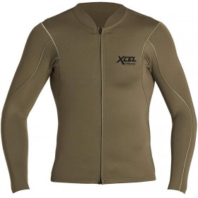 XCEL AXIS L/S FRONT ZIP 1/05MM