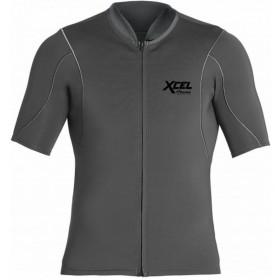XCEL AXIS S/S FRONT ZIP 1/0.5MM